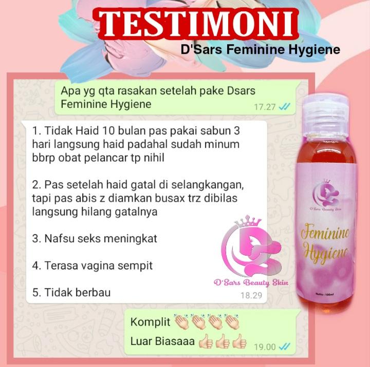 Testimoni produk D'Sars Feminine Hygiene 2