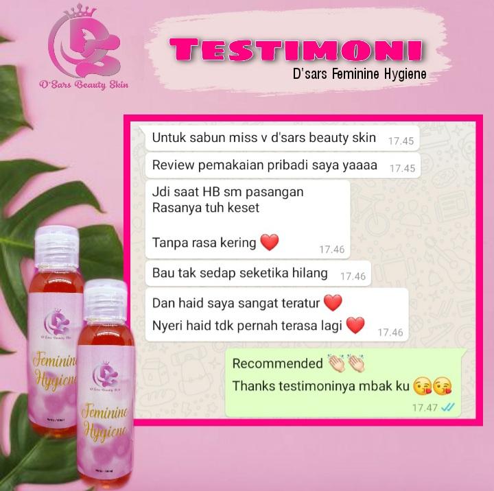 Testimoni produk D'Sars Feminine Hygiene 3
