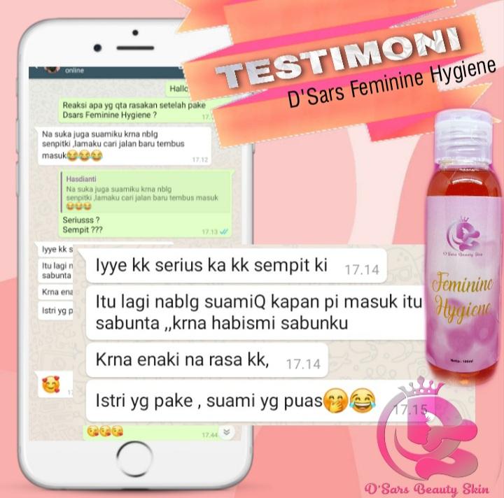 Testimoni produk D'Sars Feminine Hygiene 4