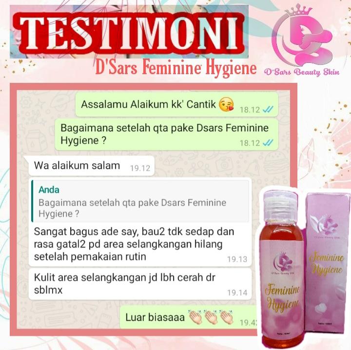 Testimoni produk D'Sars Feminine Hygiene 6