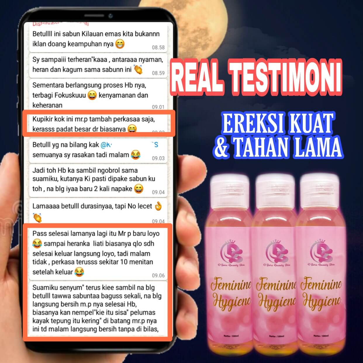 testimoni D'Sars Feminine Hygiene 3
