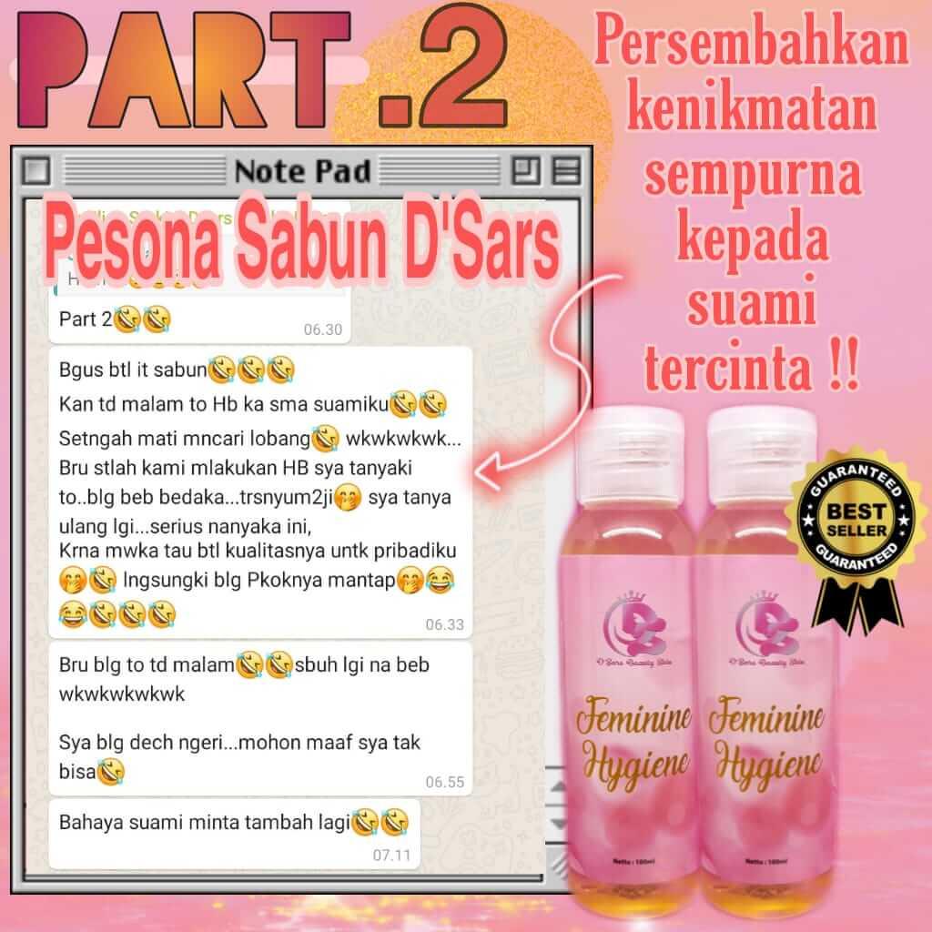 testimoni D'Sars Feminine Hygiene 7